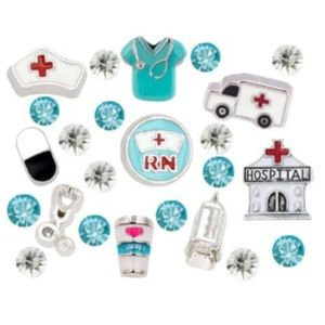 Jewelry - ‼️2 for $16  RN Nurse Floating Charms 23pcs